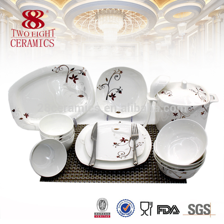 whole fine bone china ceramics tableware set , nice hotel dinner set for 4 peoples