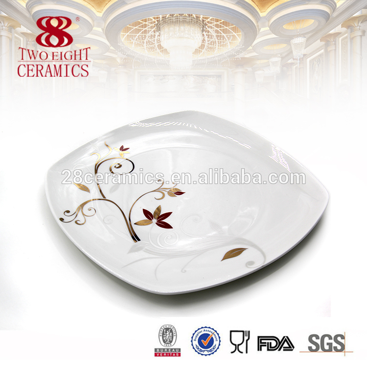 Guangzhou decal china ceramic 72 pcs dinner set with flower