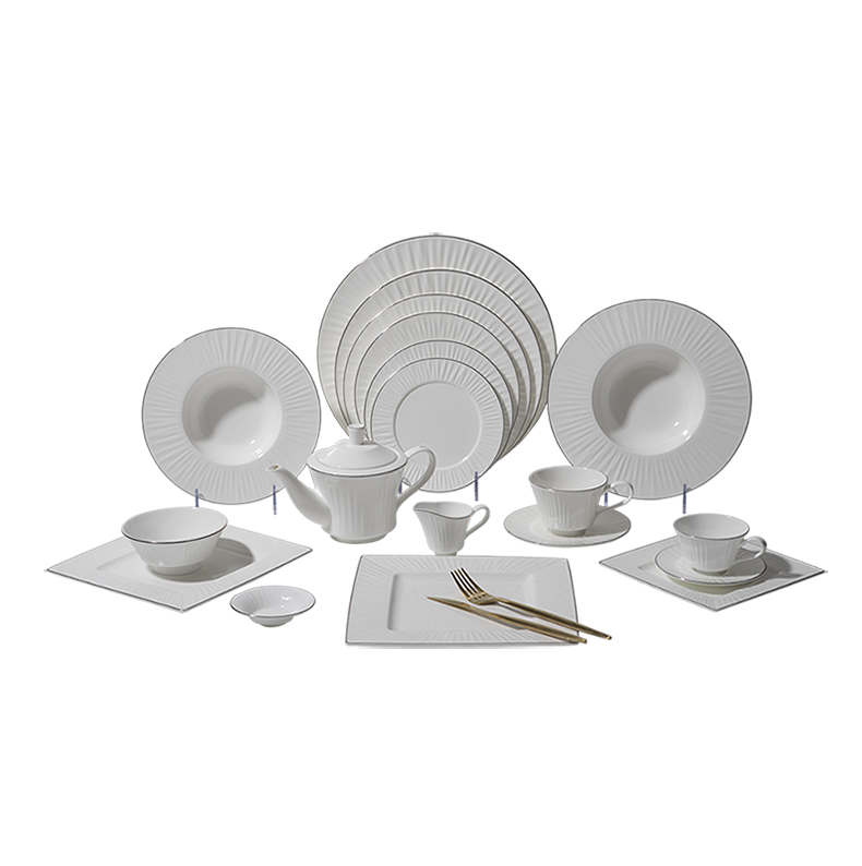 European Bone China Dinnerware Set Dishes, Round Dinner Table Set, Durable Fine Bone China Dinnerware>