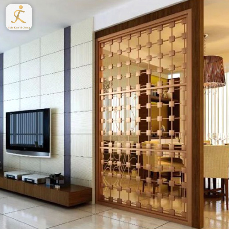 custom metal decorative lattice laser cut screens partition stainless steel inox wall kitchen room screen dividers