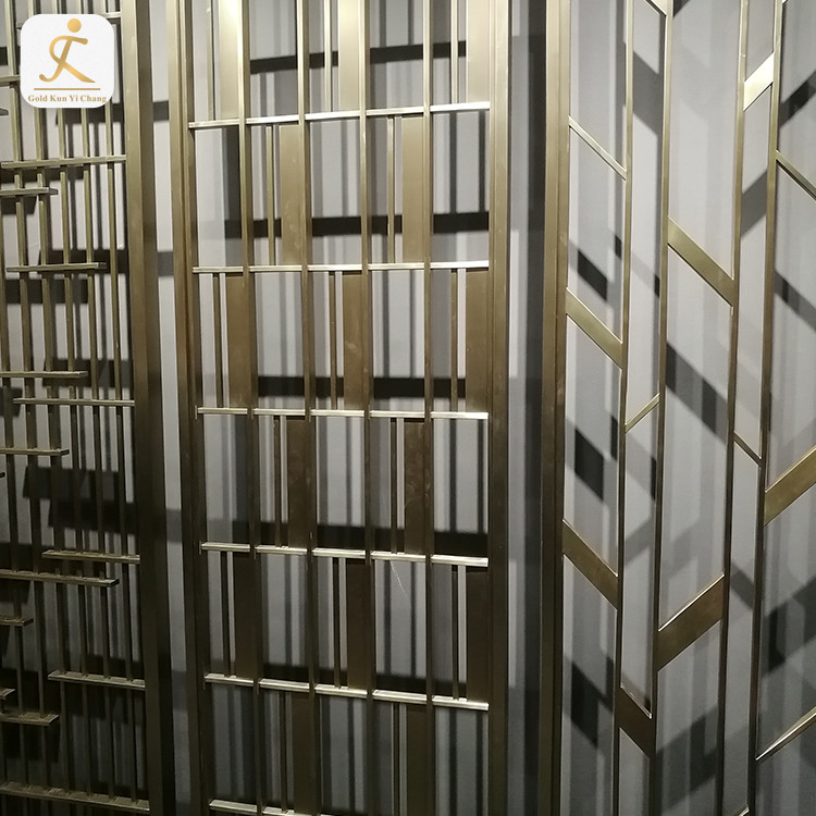 new style laser cut metal bronze color stainless steel room dividers modern design metal room divider partitions