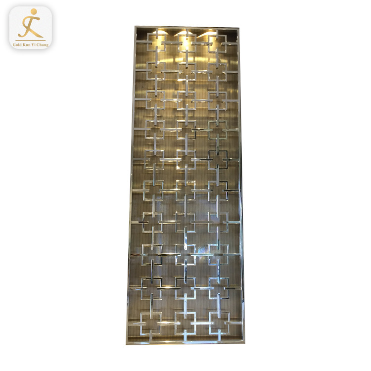 China supplier customized luxury stainless steel room screen divider special design customized stainless steel room partition