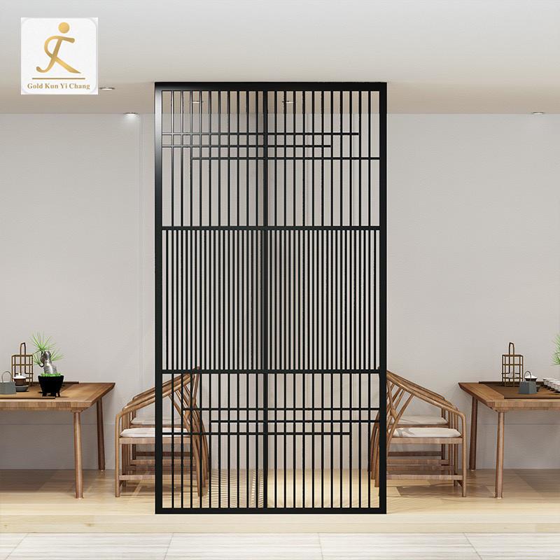custom Simple design restaurant metal room divider stainless steel screen divider partition