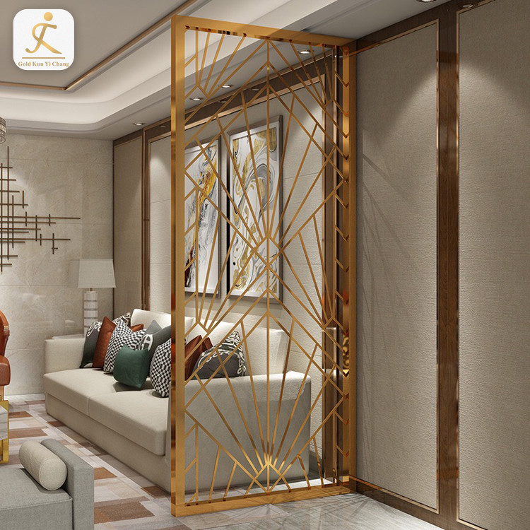 custom hairline commercial room dividers partitions simple design stainless steel laser cut metal privacy divider partition