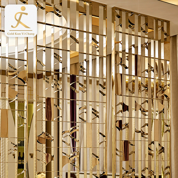 factory sale stainless steel panel screen room divider for home decor stainless steel hotel room decoration screen dividers