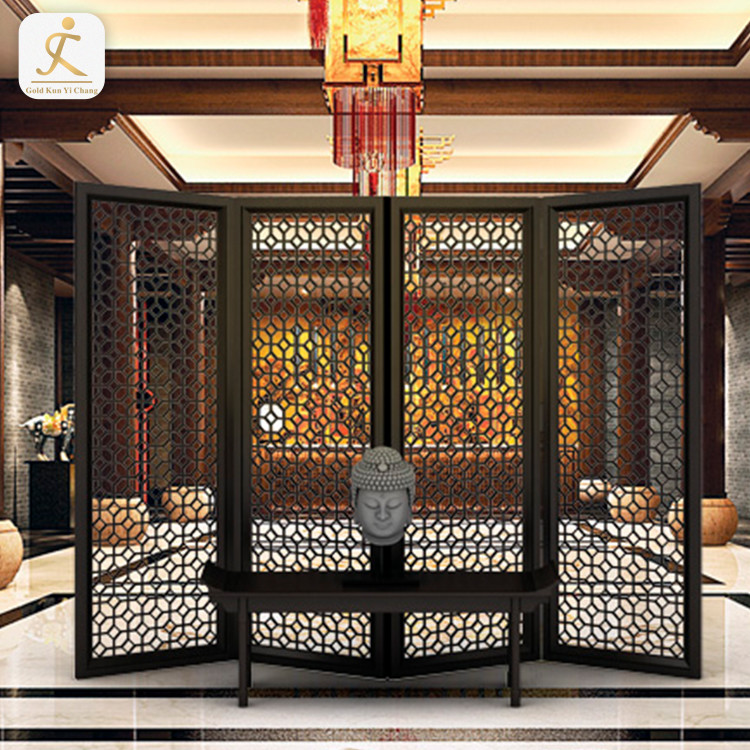 Decorative Laser Cut Metal Screens For Sale Uk Ready Made Large Room Partitions Metal Folding Screen Laser Cut Room Divider