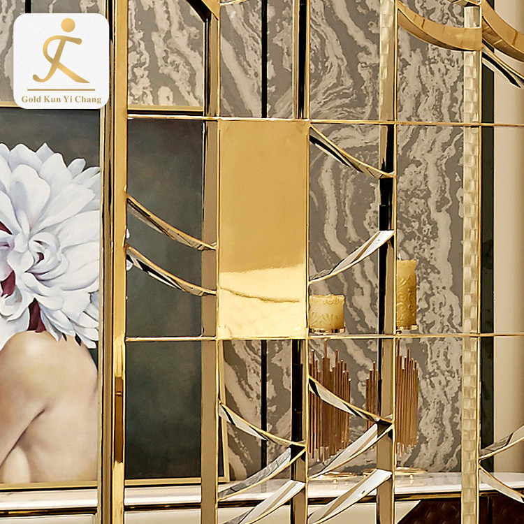 Luxury Retro Style Carving Steel Room Divider Home Decoration Screen Partition