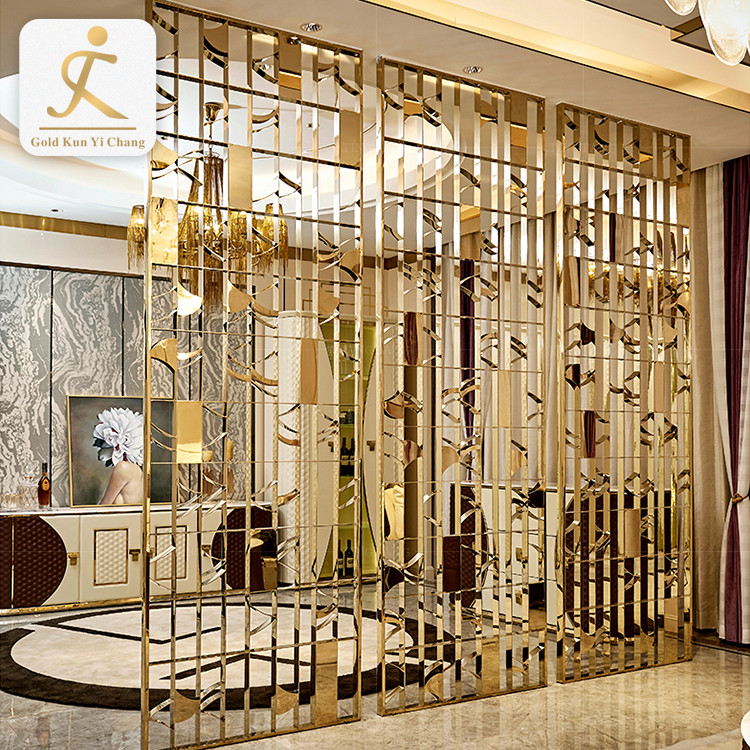 China manufacturer stainless steel screens dividers home decor stainless steel gold partition screen room divider