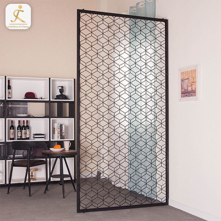 Foshan Supplier High End Modern Stainless Steel Room Partition Customized Decor Living Room Screen Partition Divider