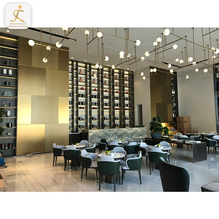 high end custom stainless steel room divider for lobby decoration hotel lobby decoration floor to ceiling fancy room dividers
