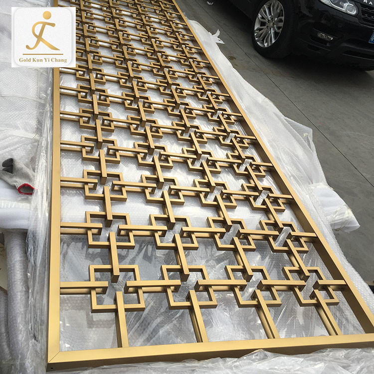 Customized 3D design lasercutting folding decoration laser cut stainless steel room screen