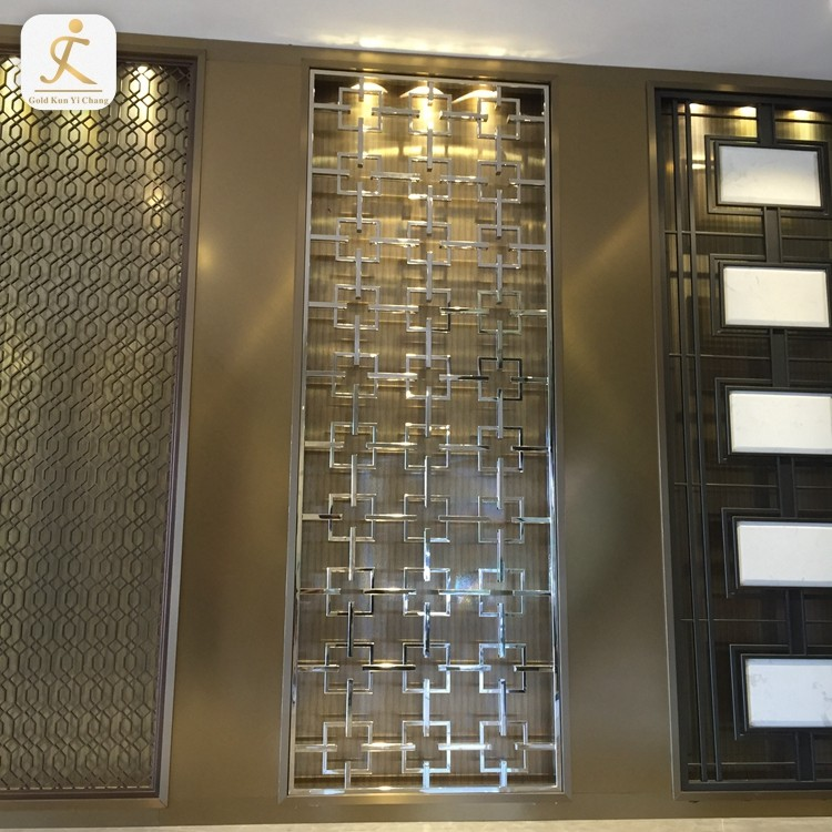 Customized multiple modern stylesluxury partition laser cut metal screensroom dividers decorative