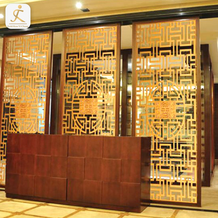 SUS 304 316 laser hollow cut decorative screen for wall art modern indoor living room decorative framed partition screens