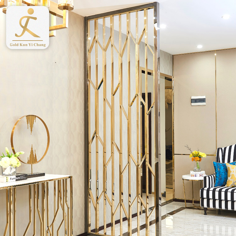 living room SUS lightweight room coating divider partitions laser hollow cut metal stainless steel divider partition screen