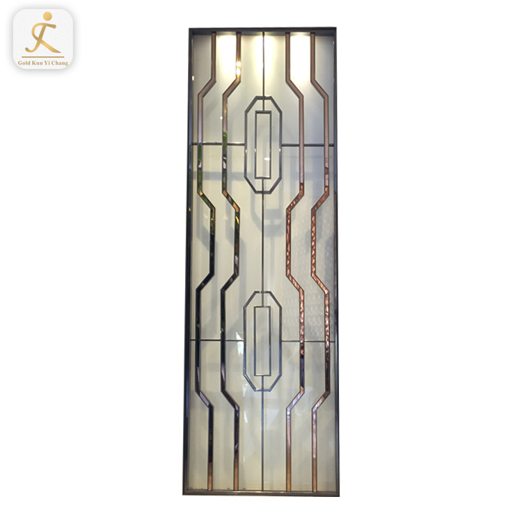 decorative wedding hotel use metal screen room divider for tables golden freestanding big stainless steel screen divider