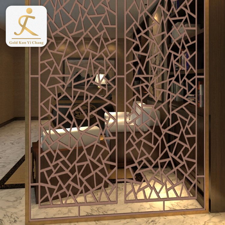 SUS304 cheap 3d wall art professional partition room divider cheap dubai living room double pieces divider screen