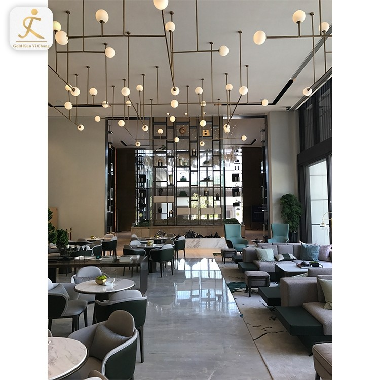 Lobby Decorative Stainless Steel Screen Partition Stainless Steel Art Design Lobby Living Room Wall Hall Partition