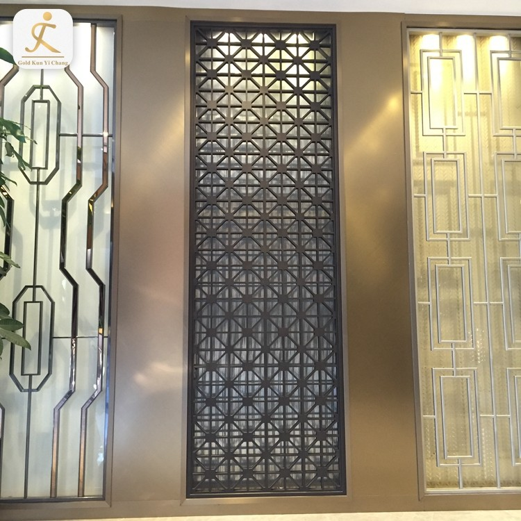 Special design customized stainless steel single panel room partition laser cut garden metal screen room dividers