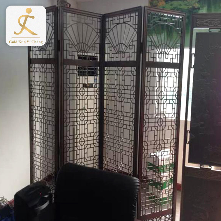 hollow cut room partition for bedroom steel decorative japanese screen room divider foldable room screens dividers