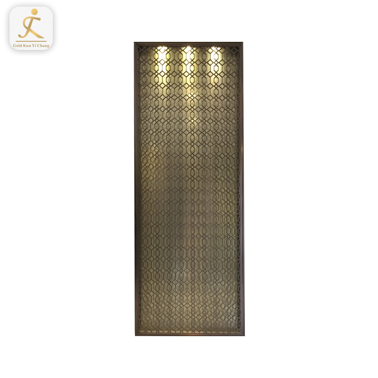 Korean Stainless Steel Metal Partition Screen Wall Art Laser Cut Corten Steel Partition Screens Room Divider Partition