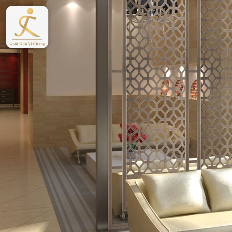Custom made stainless steel frame restaurant decorative room divider antique commercial partition fancy room dividers