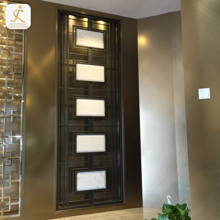 High End Customized Hotel Restaurant Room Partition Stainless Steel Metal Room Floor To Ceiling Room Dividers
