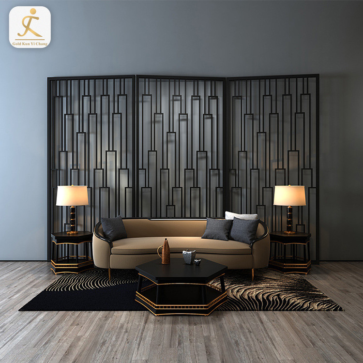 custom internal luxury modern metal partition screens stainless steel large decorative metal room partitions