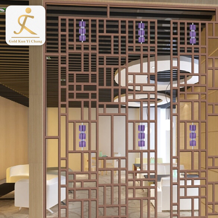 hotel wall decorative laser cutstainless steel screen partition for hotel bar villa