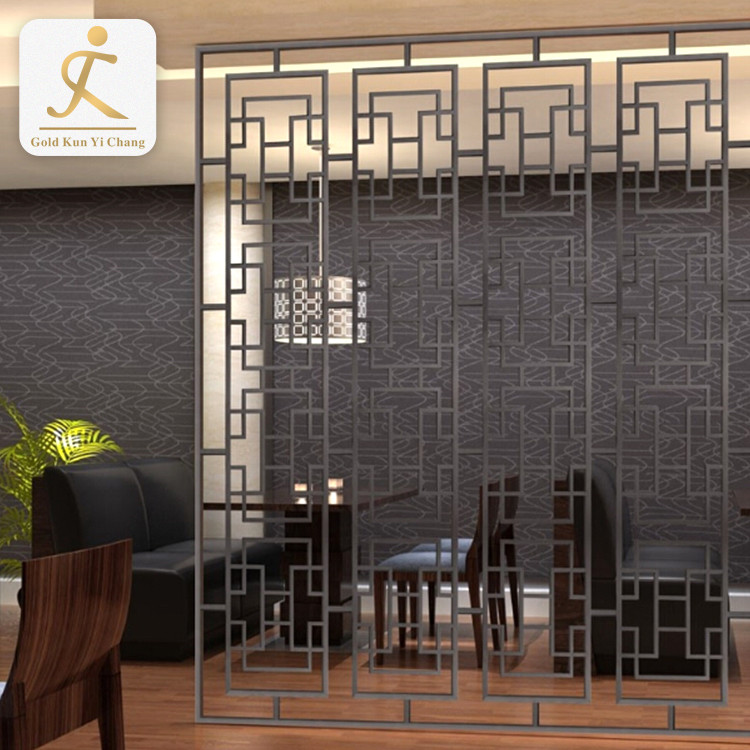 brushed black decorative wall screen laser hollow cut decorative metal screens vibration interior room metal wall divider
