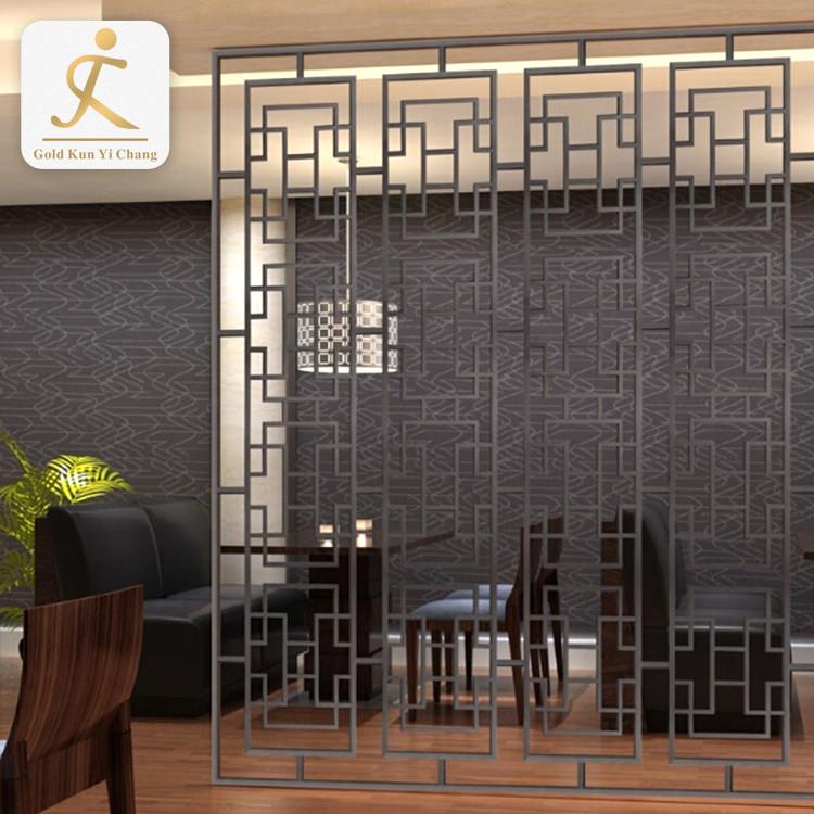 brushed black decorative wall screen laser hollow cut decorative metal screens vibration interior room metal wall divider