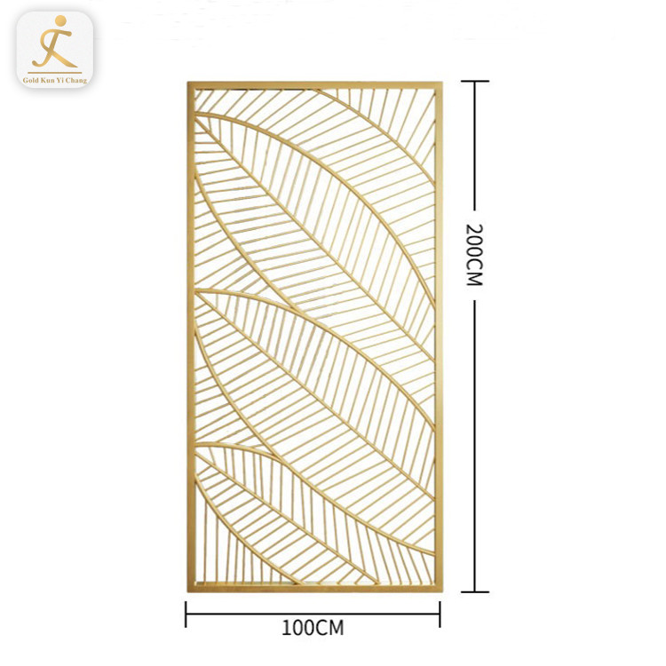 simple design stainless steelhome restaurant modern divider European style decoration high floor to ceiling room dividers