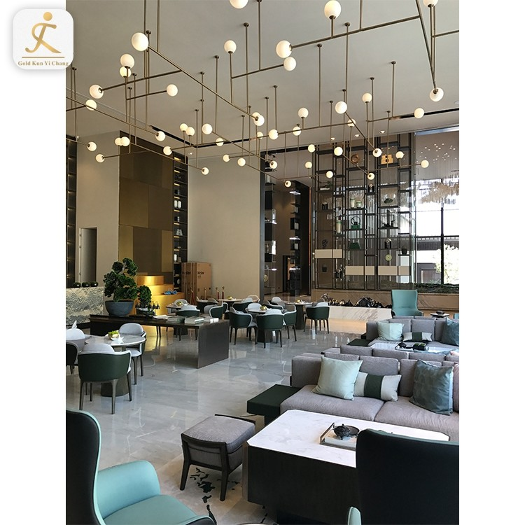restaurant hotel lobby wall decoration metal screen panels professional stainless steel hall room divider