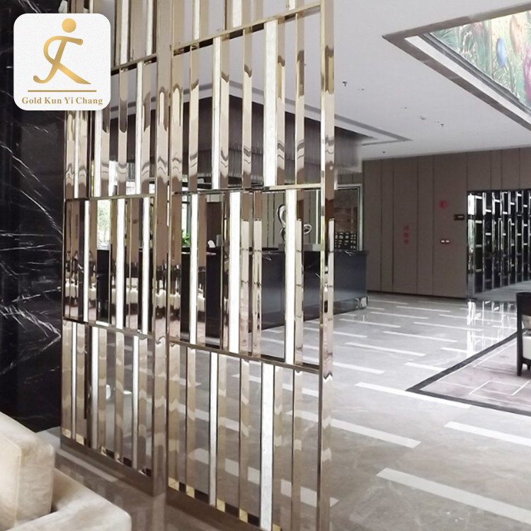 hotel screens decoration partitions room divider 4 panel cheap chinese silver steel rectangle decorative metal screen