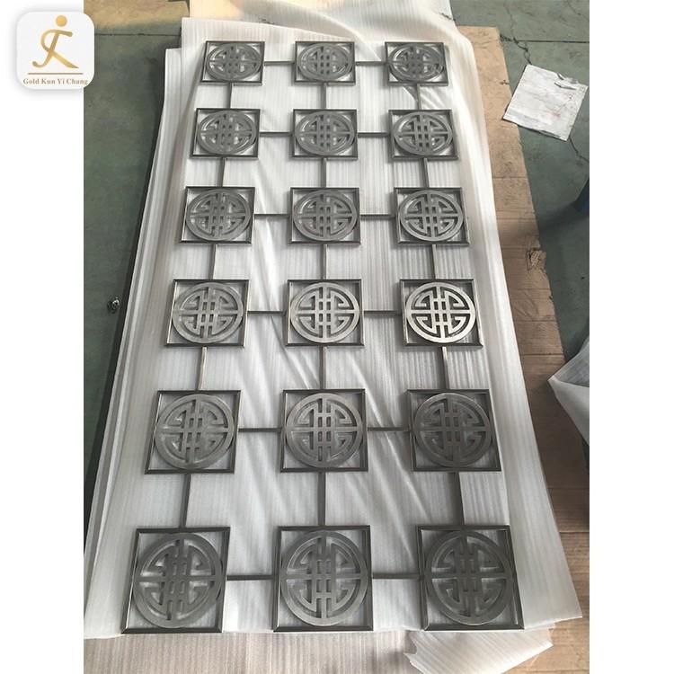 Stainless steel laser cut metal screens flower wall decor art freestanding garden room dividers home screen panels