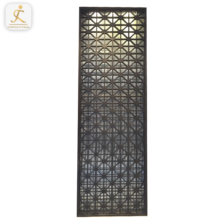 Decorative Restaurant Room Stainless Steel Divider Screen Partition Room Metal Decorative Screen Panel Divider