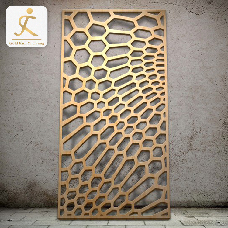 Decorative Partition Room Screens Direct Design Modern House Metal Partition Standing Stainless Steel Screen Room Divider