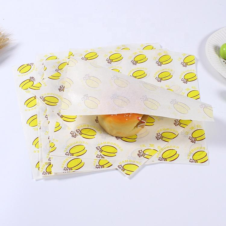 Custom printed Food grade high quality grease proof paper wrapping for burger Manufacturer in china