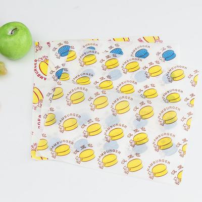 Custom Logo Printed greaseproof paper hot sandwich packaging paper
