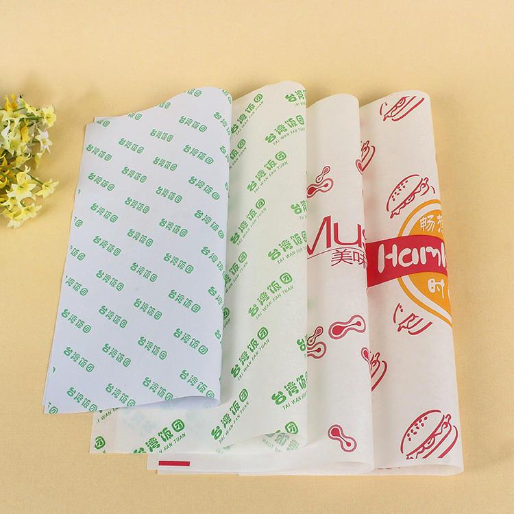 Wrap Burger Aluminum Foil Food Grade Sandwich Pocket Paper Printed Oil Proof Packaging