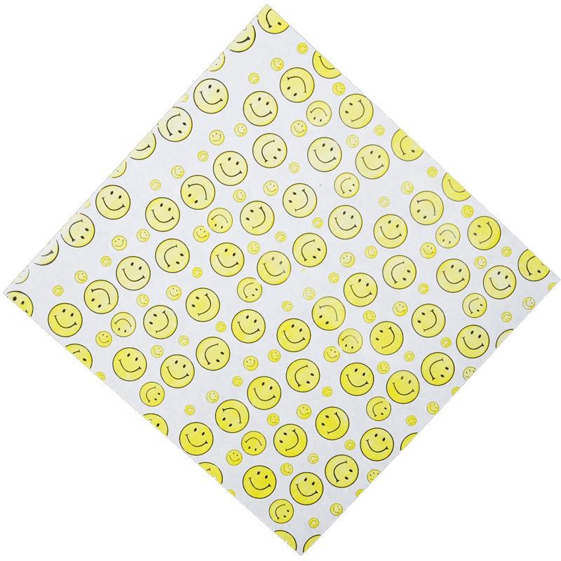 Custom Smile printed sandwich wrapper oil proof paper China supplier