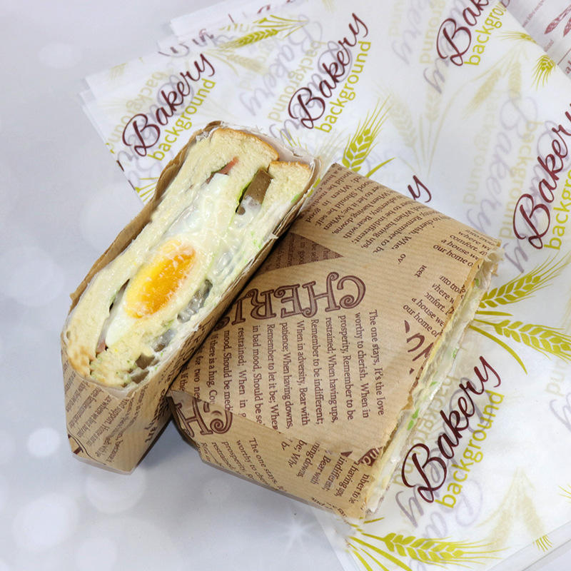 Custom printedsandwich wrapping deli food wrapping paper manufacturer