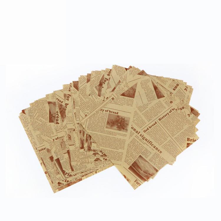 OEM Servicefood grade high quality greaseproof paper packing for burger sandwich Manufacturer