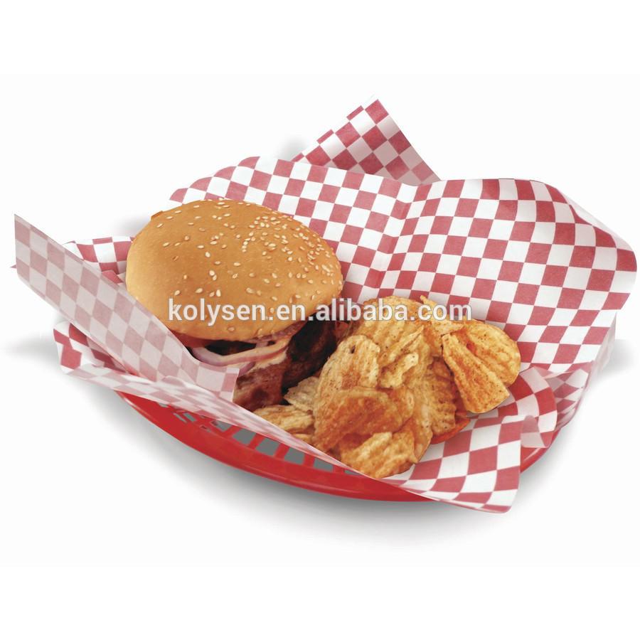 Kolysen Custom Printed Greaseproof Burger Wrapping Baking Paper