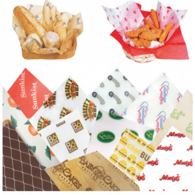 Kolysen custom printed food wrapping parchment paper for hamburger packaging