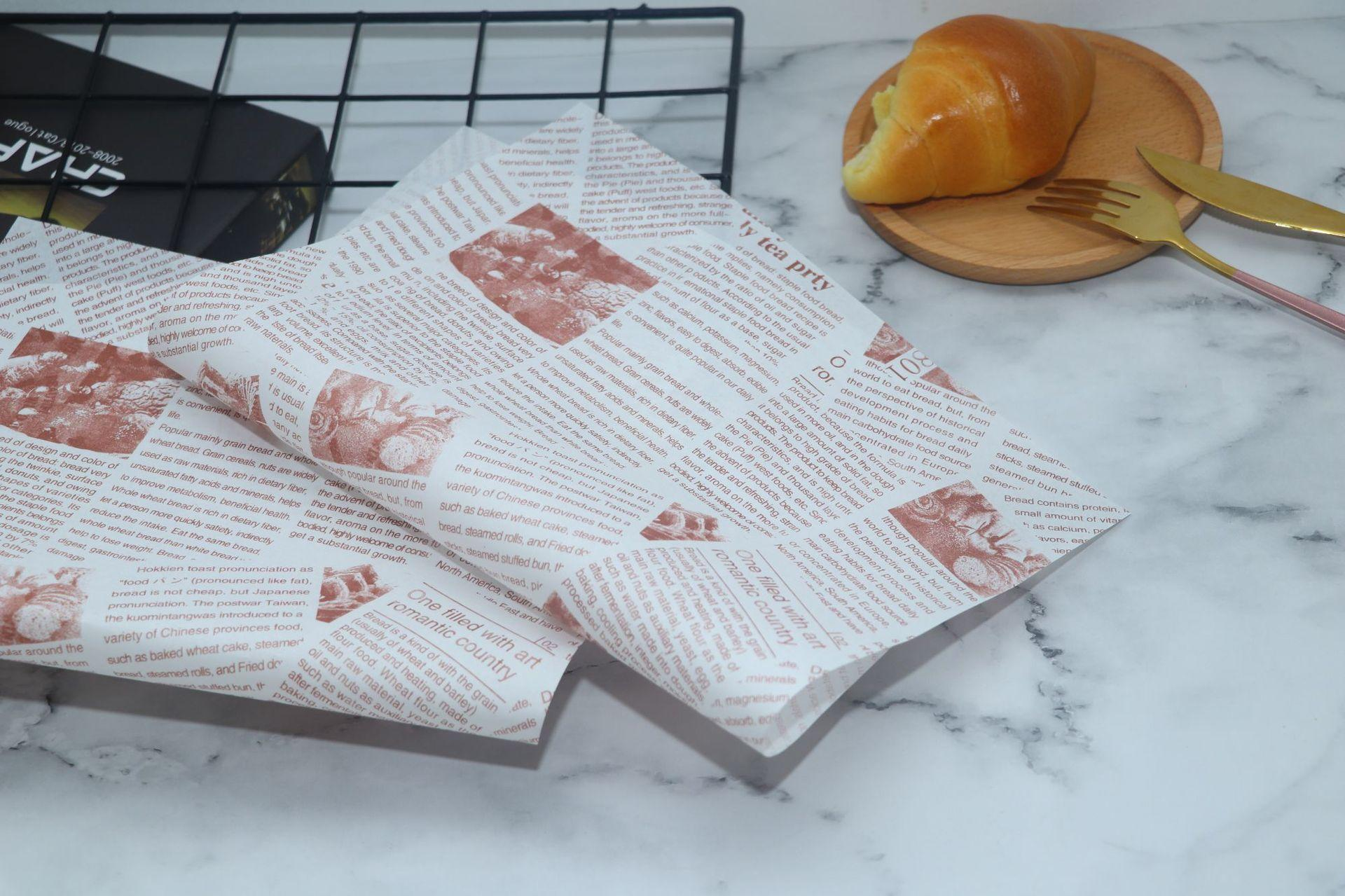 Custom cake wrapping food wrapping pape cake packing paper takeaway snack food