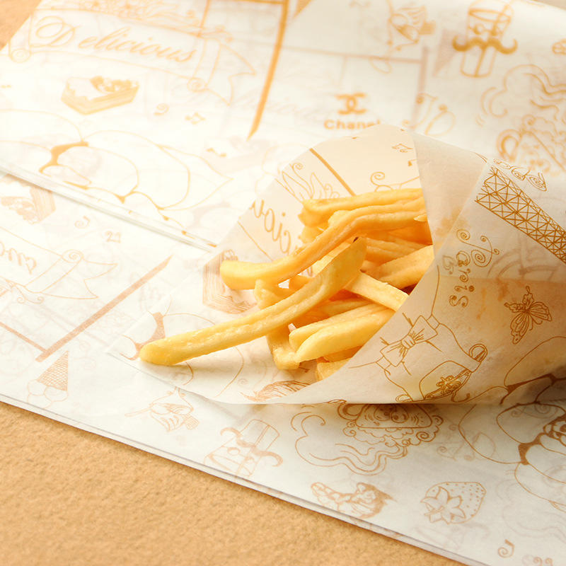 Custom deli food greaseproof wrapper paper sheet in china