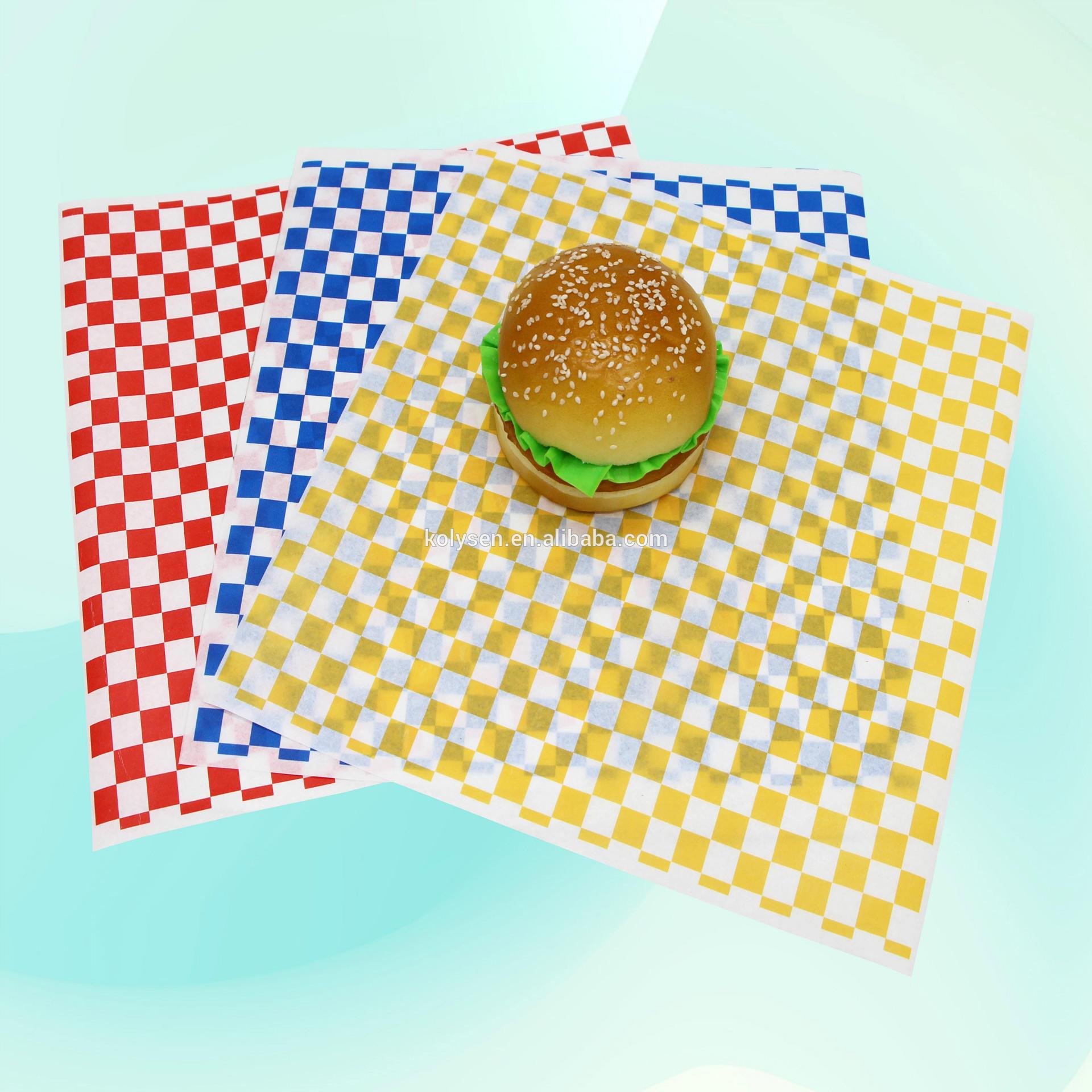 Custom Biodegradable Greaseproof Sandwich Packaging Paper
