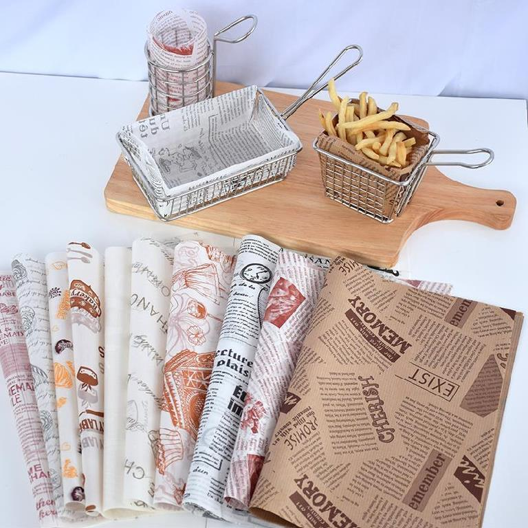 Kolysen Top Factory Custom Printed Food Grade Mexican Taco Wrapping Paper Wood Pulp Greaseproof Gravure Printing Virgin Uncoated