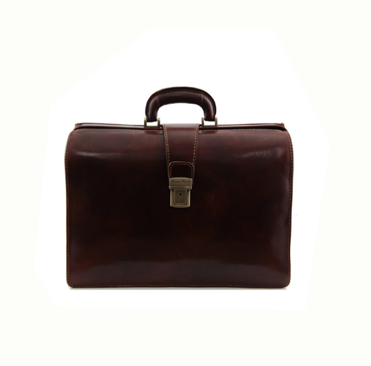 Custom LuxuryOffice Leather Briefcase Doctor Leather Bag Men Briefcase In Brown Colour