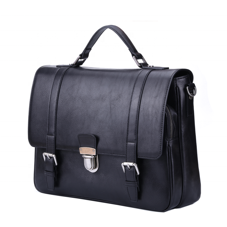 Unique 100% Italy import cowhide leather Men Briefcases luxury removable strap shoulder laptop messenger crossbody bags for man